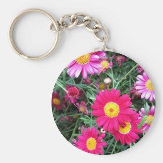 Pink Daisies Keychain