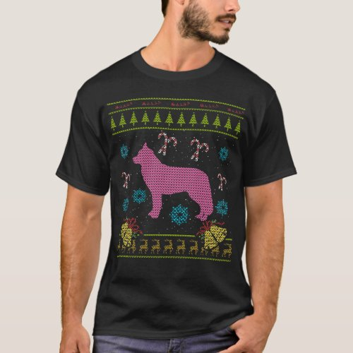 Pink Dog Christmas Ugly Sweater Design Shirt