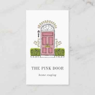 Pink Door | Home Staging or Interior Design Business Card