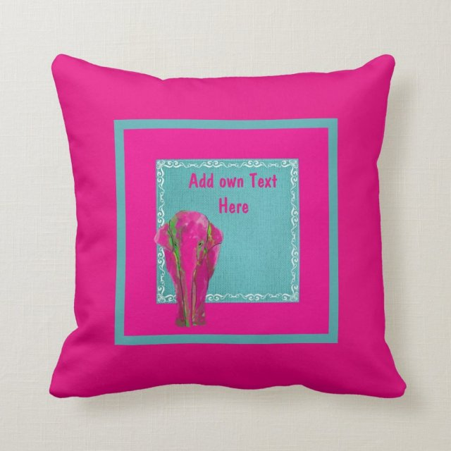 Pink Elephant and Teal customized