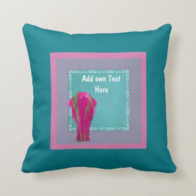 Pink Elephant turquoise decor customized
