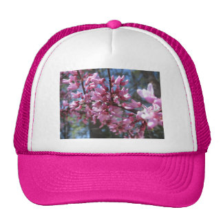 Pink Floral Branch Trucker Hats