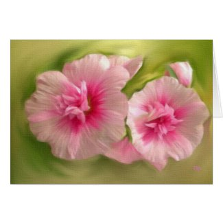 Pink Flowers on Canvas Cards
