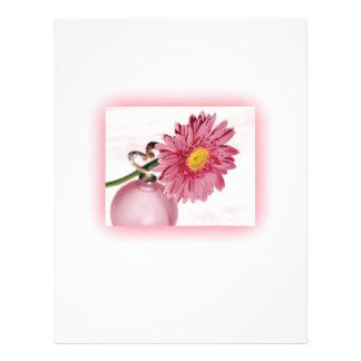 Pink Gerbera Daisy Letterhead Design