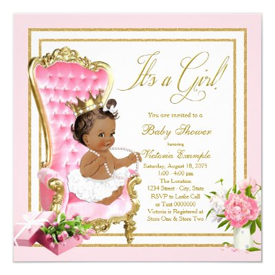 Ethnic Princess Baby Shower invite