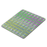 Pink Green Blue Yellow Zigzag Pattern Puzzle Coaster