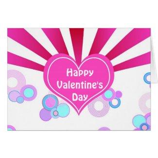 Pink heart card
