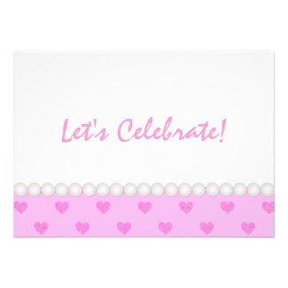 Pink Heart: Party Invitation
