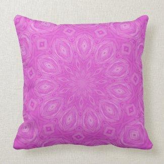Pink Kaleidoscope Pillow