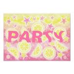 Pink Lemonade birthday party invitation rectangle