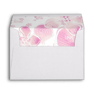 Pink Love Blossoms Envelope envelope