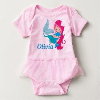 Pink Mermaid Tutu T-shirt
