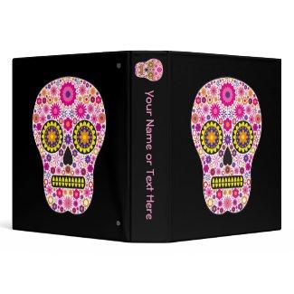 Pink Mexican Sugar Skull binder