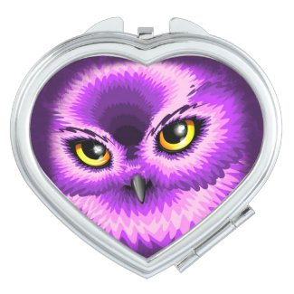 Pink Owl Eyes Compact_Mirror