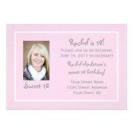 Pink Polka Dots Sweet 16 Birthday Invitation