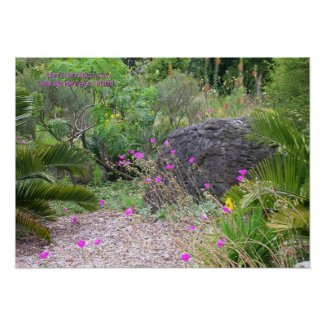 Pink Poppies Garden Print - Select Your Frame print