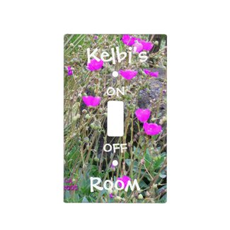 Pink Poppies Light Switch Cover