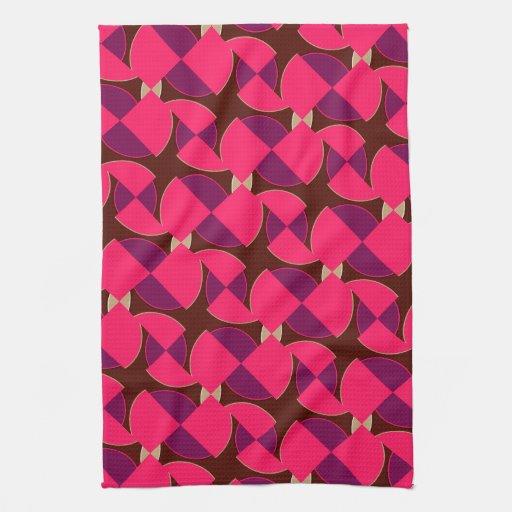 Pink Purple Watermelon Pattern Kitchen Tea Cloth Kitchen Towels