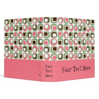 Pink Retro Graphic Binder binder
