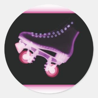 Pink Rollerskate Xray Sticker