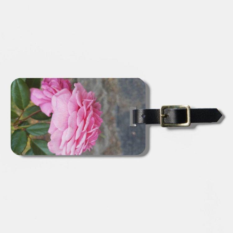 Pink Rose -Luggage Tag