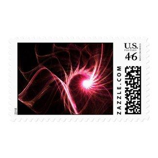 Pink star - Postage stamp