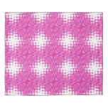 Pink Starburst Abstract Duvet Cover