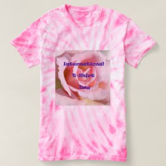Pink Tie Dye International T-Shirt Day T-Shirt