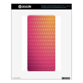 Pink To Orange Gradient Waves NOOK Skin