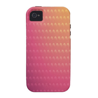 Pink To Orange Gradient Waves Vibe iPhone 4 Cover