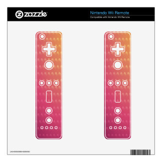 Pink To Orange Gradient Waves Wii Remote Decals