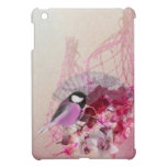 Pink wren and orchid damask pattern ipad mini cases