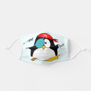 Pirate Penguin Argh! Cloth Face Mask