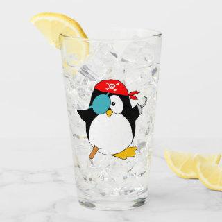 Pirate Penguin Glass