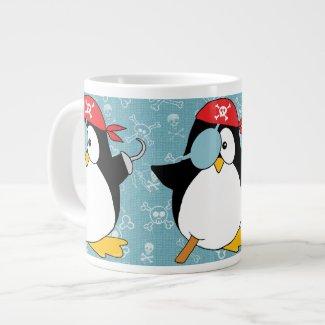 Pirate Penguin Graphic Pattern Jumbo Mugs