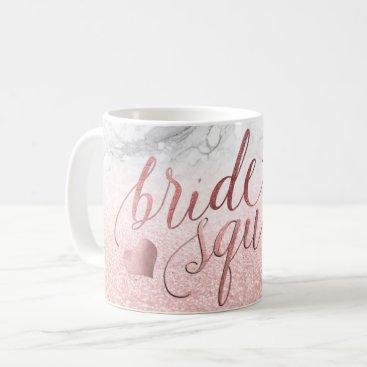 PixDezines Bride Squad/Faux Rose Gold Script Coffee Mug