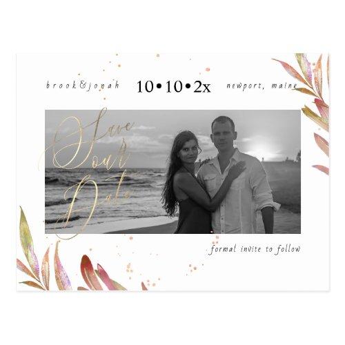 PixDezines Fall Foliage Save our Date Postcard