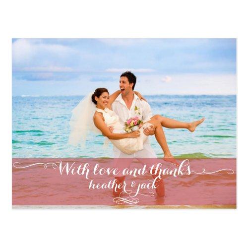 PixDezines wedding photo thank you postcards