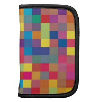 Pixel Rainbow Square Pattern rickshawfolio