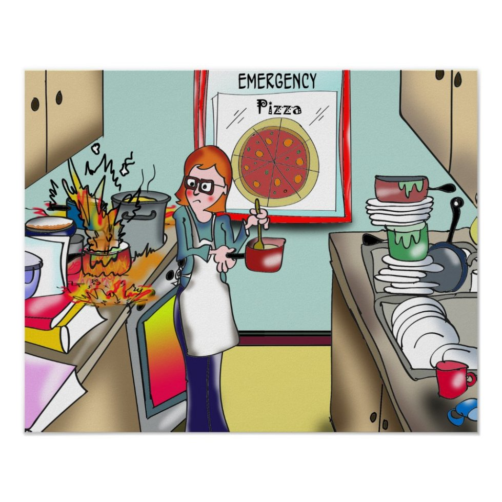 Pizza in Case of Emergency Poster