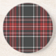 Plain Red Plaid Coaster on Zazzle