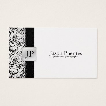 Platnium Damask Photography Business Card