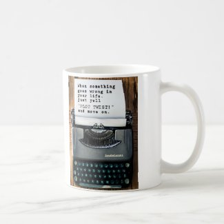 """PLOT TWIST"" Mug - Full Typewriter"