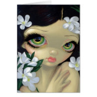 Poisonous Beauties II White Oleander Greeting Card