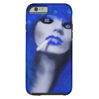 Poker Face Woman with Dice Eyes Art iphone6 iPhone 6 Case