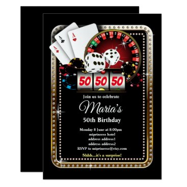 Poker Playing Card, casino party invite