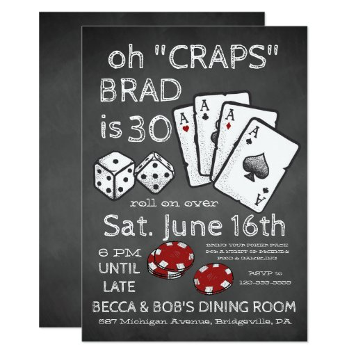 Poker Themed Party Invitation