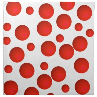 Polka-Dot Bulk Cloth Napkin