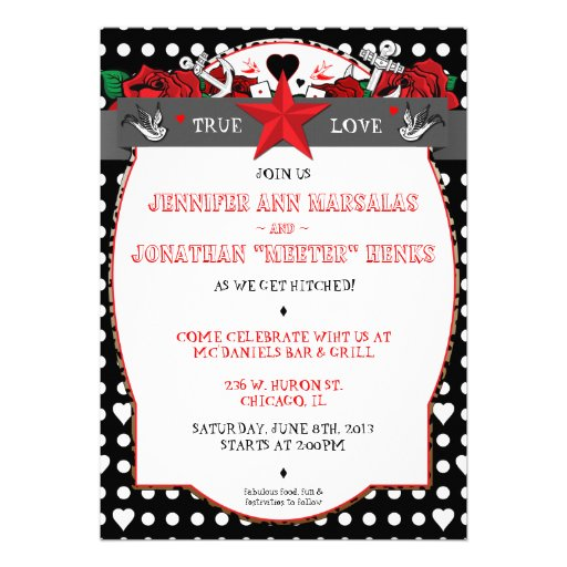 Polka Dot Tattoo Rockabilly Wedding