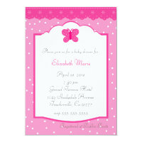 Polka Dots and Butterfly Baby Shower Card